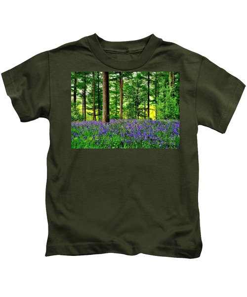 English Bluebell Wood Kids T-Shirt