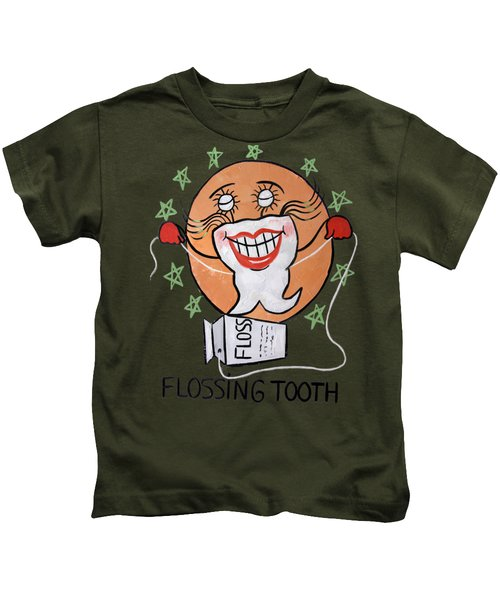 Flossing Tooth Kids T-Shirt