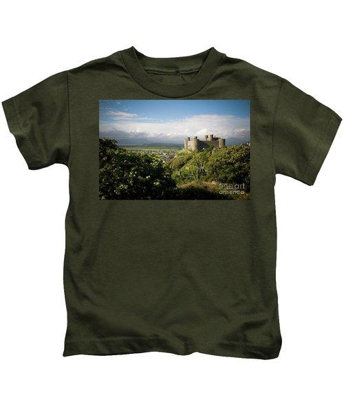 Harlech Castle, Snowdonia, Gwynedd, North Wales, Uk Kids T-Shirt