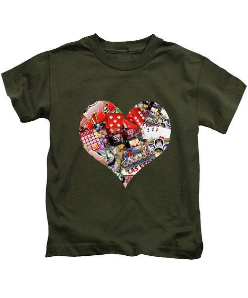 Heart Playing Card Shape  Kids T-Shirt