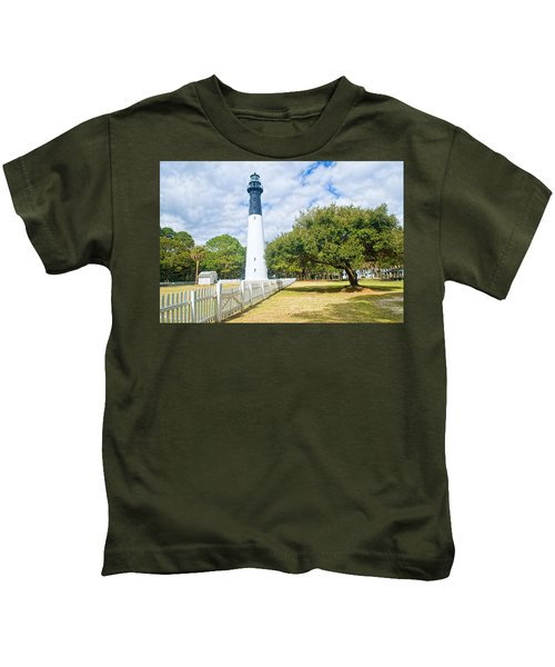 Hunting Island Lighthouse Kids T-Shirt