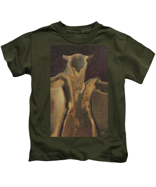 Minotaur  Kids T-Shirt by Quim Abella