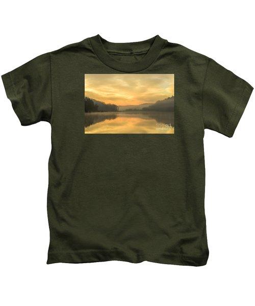 Misty Morning On The Lake Kids T-Shirt