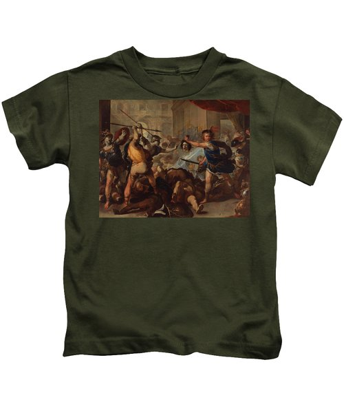 Perseus Turning Phineas And His Followers To Stone Kids T-Shirt