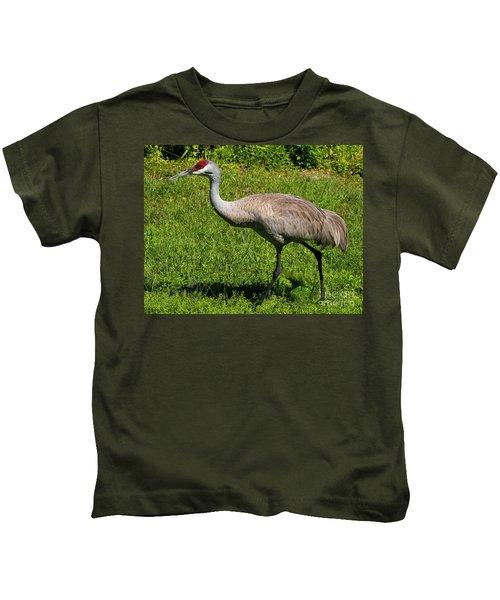 Sand Hill Crane Kids T-Shirt