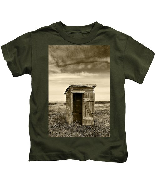 School Outhouse Toilet Kids T-Shirt
