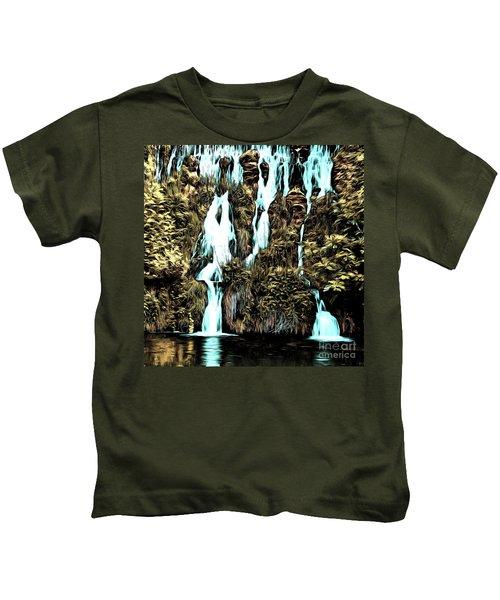 Waterfall Painting Kids T-Shirt