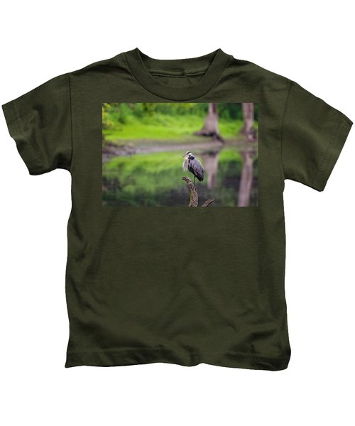 Blue Heron Kids T-Shirt