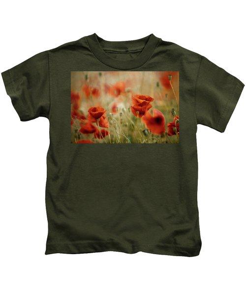 Summer Poppy Meadow Kids T-Shirt