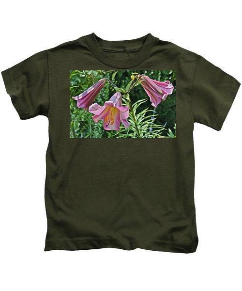 2015 Summer At The Garden Lilies In The Rose Garden 2 Kids T-Shirt