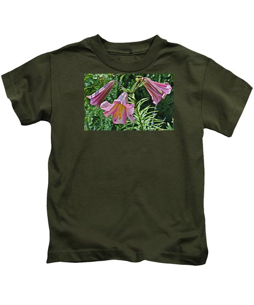 2015 Summer At The Garden Lilies In The Rose Garden 2 Kids T-Shirt
