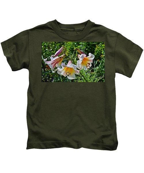 2015 Summer At The Garden Lilies In The Rose Garden 1 Kids T-Shirt