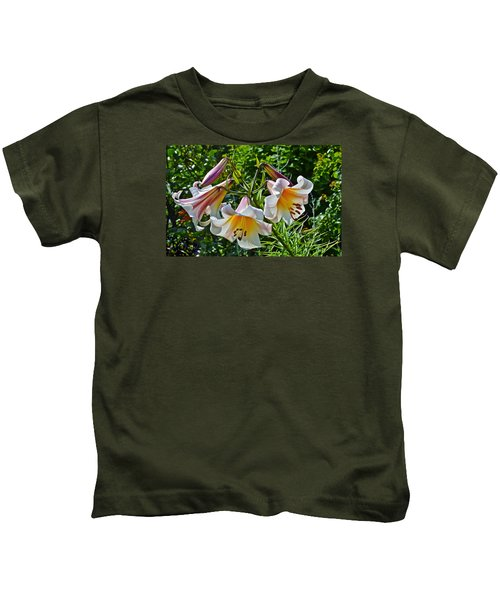 2015 Summer At The Garden Lilies In The Rose Garden 1 Kids T-Shirt