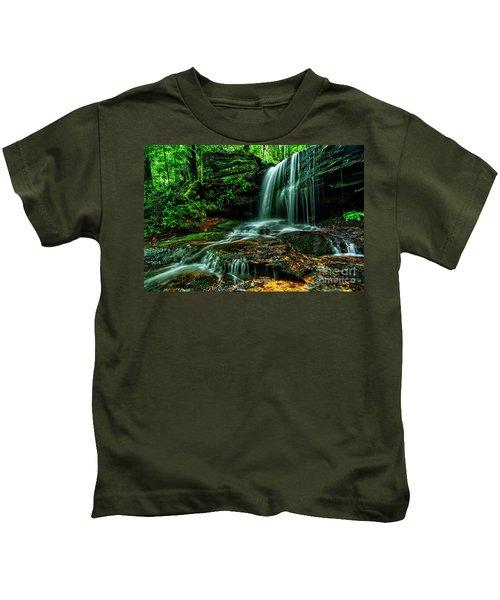 West Virginia Waterfall Kids T-Shirt