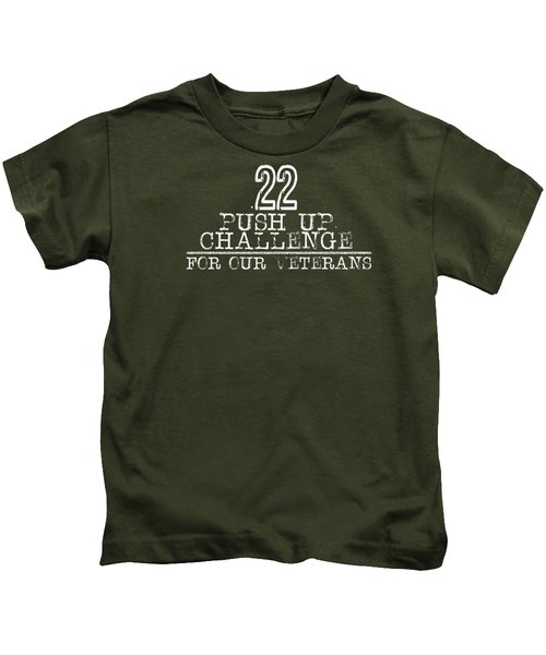22 Push Up Challenge For Our Veterans Kids T-Shirt