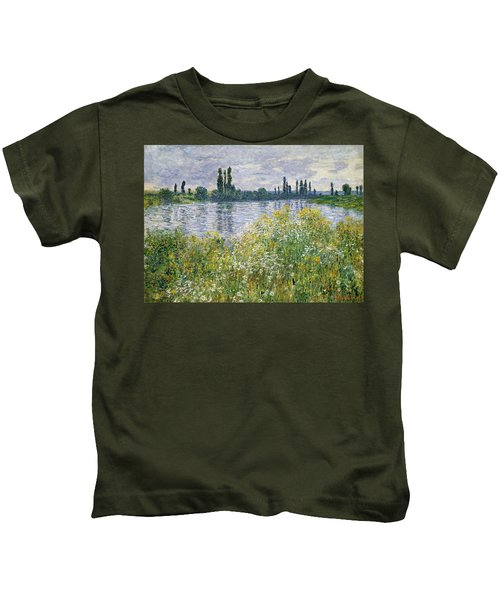 Banks Of The Seine, Vetheuil Kids T-Shirt