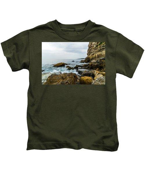 Coastline Of The Bay Kids T-Shirt