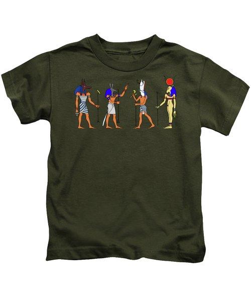 Egyptian Gods And Goddess Kids T-Shirt