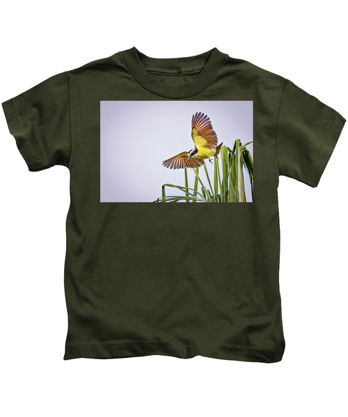 Great Crested Flycatcher Kids T-Shirt