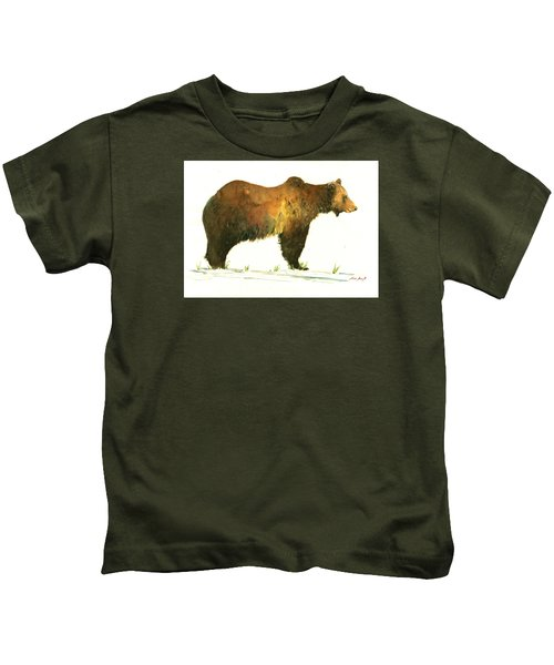 Grizzly Brown Bear Kids T-Shirt