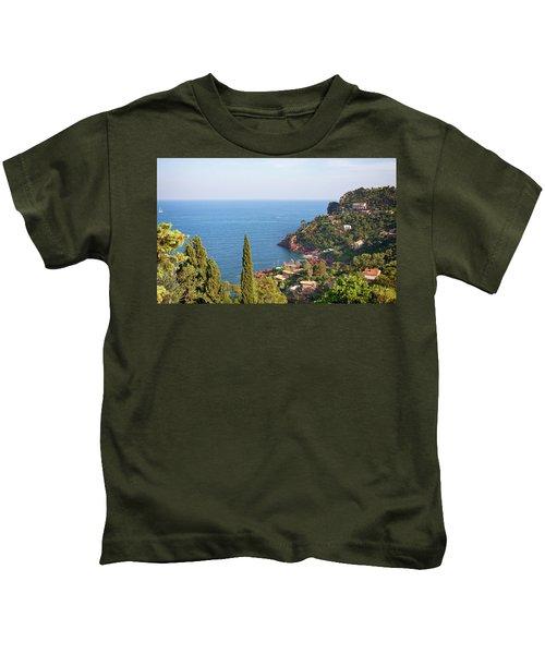 French Mediterranean Coastline Kids T-Shirt