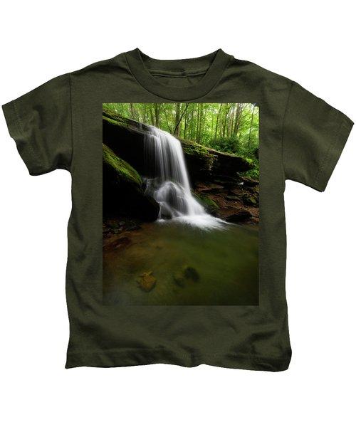 Otter Falls - Seven Devils, North Carolina Kids T-Shirt