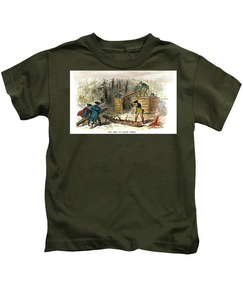 Valley Forge, Huts, 1777 Kids T-Shirt