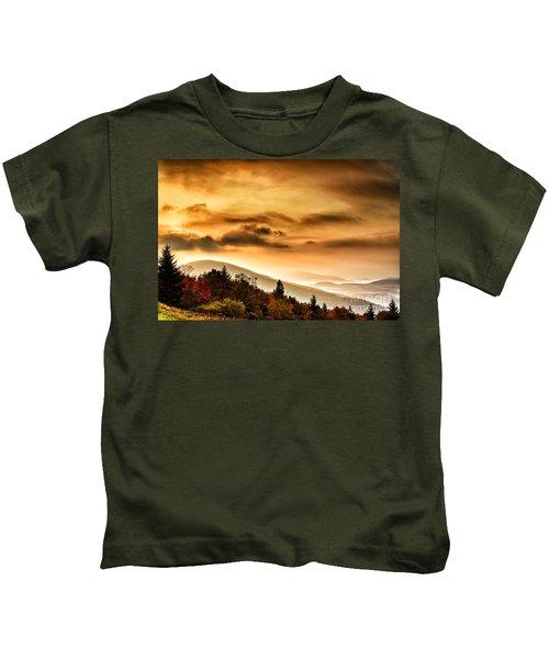 Allegheny Mountain Sunrise #33 Kids T-Shirt