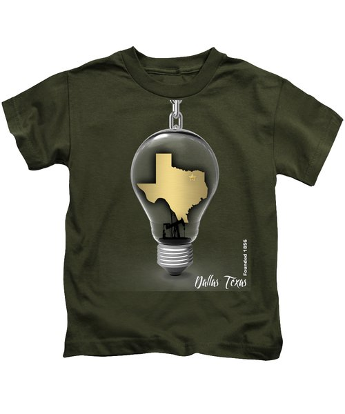 Dallas Texas Map Collection Kids T-Shirt by Marvin Blaine