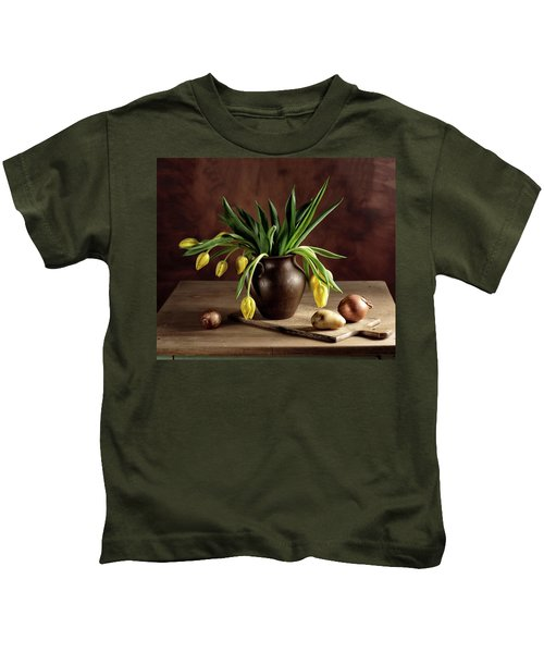 Still Life With Tulips Kids T-Shirt