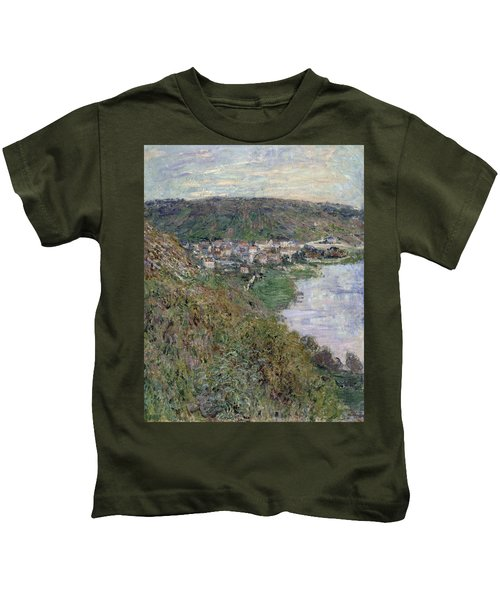 View Of Vetheuil Kids T-Shirt