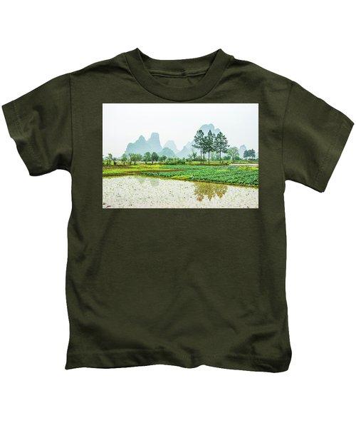 Karst Rural Scenery In Spring Kids T-Shirt