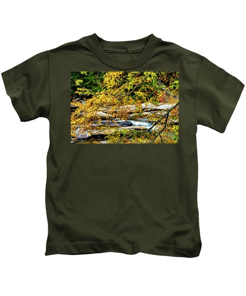 Autumn Middle Fork River Kids T-Shirt