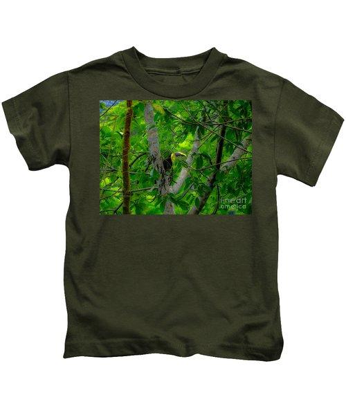 Chestnut-mandibled Toucan Kids T-Shirt