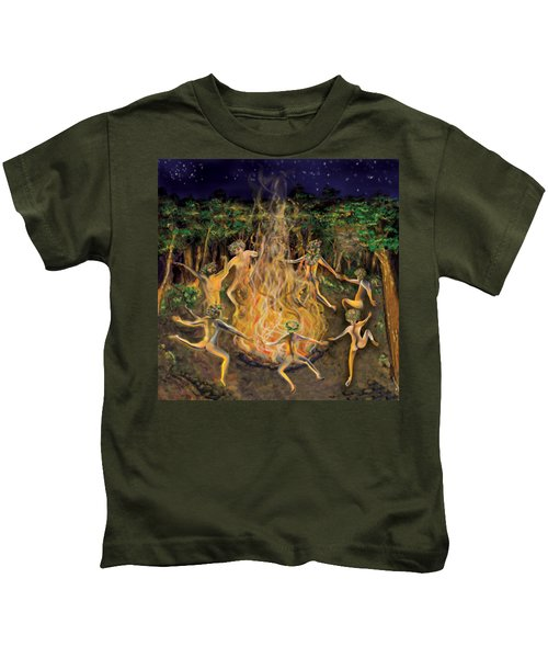Dancing Naked In The Forest Cd Cover Kids T-Shirt