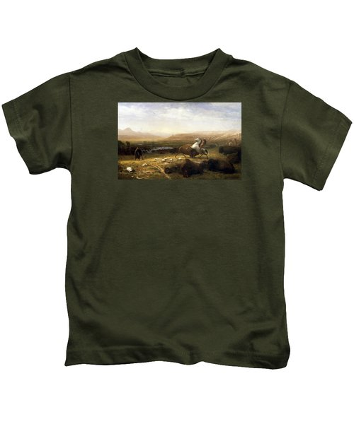 The Last Of The Buffalo  Kids T-Shirt by MotionAge Designs