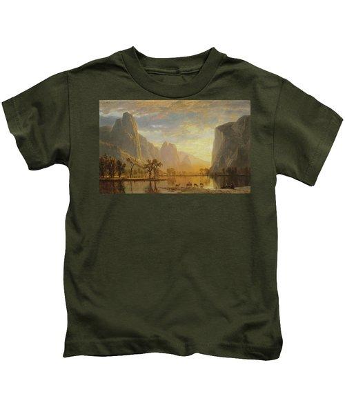 Valley Of The Yosemite Kids T-Shirt
