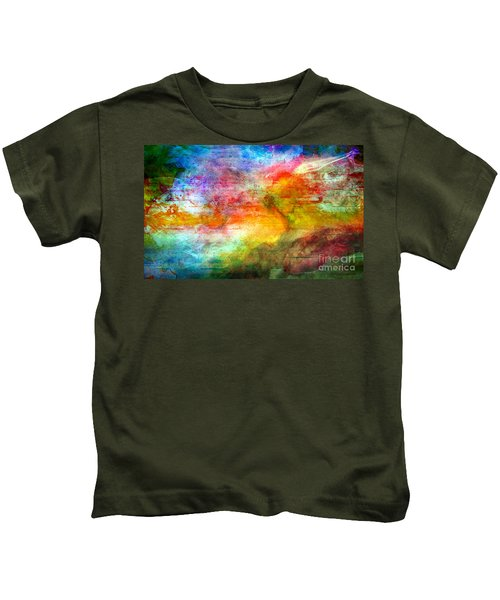 5a Abstract Expressionism Digital Painting Kids T-Shirt