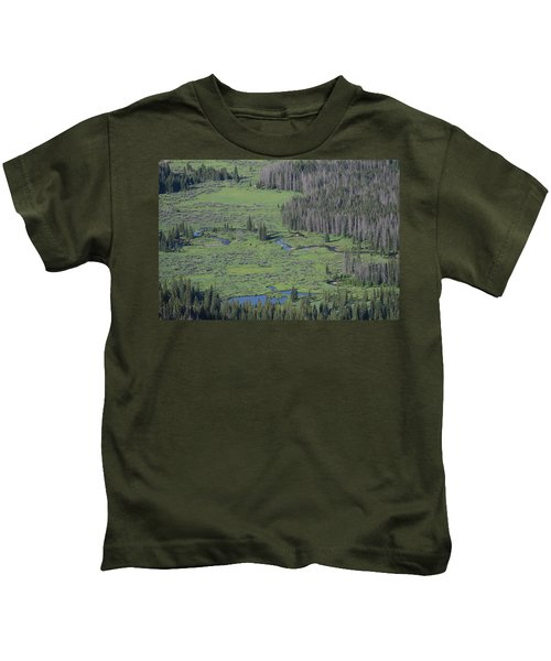 Scenery Rocky Mountain Np Co Kids T-Shirt