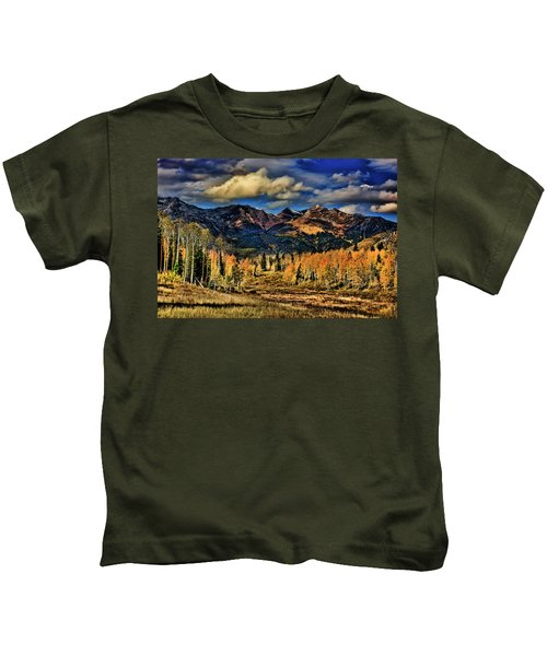 Rocky Mountain Fall Kids T-Shirt