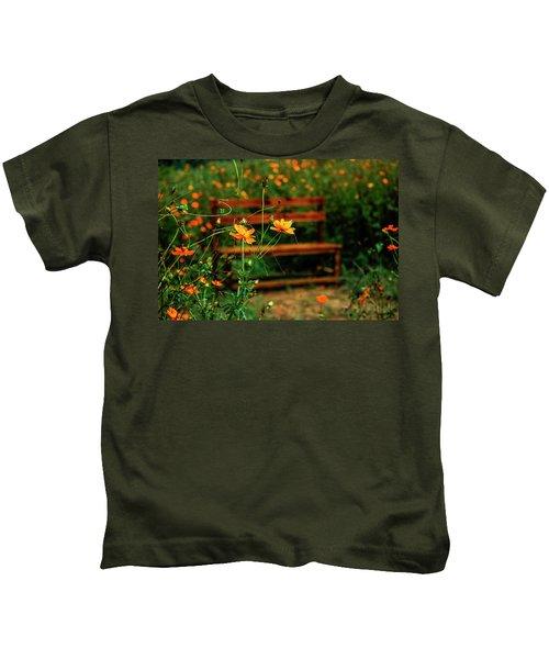 Galsang Flowers In Garden Kids T-Shirt