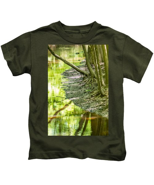 cypress forest and swamp of Congaree National Park in South Caro Kids T-Shirt