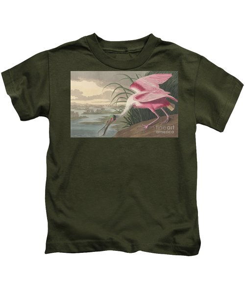 Roseate Spoonbill Kids T-Shirt