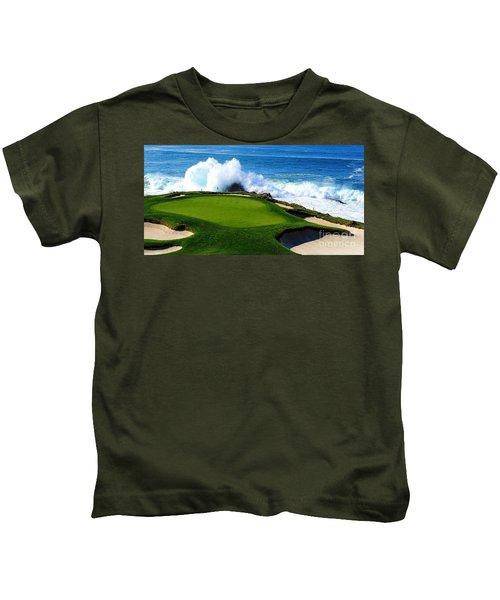7th Hole - Pebble Beach  Kids T-Shirt