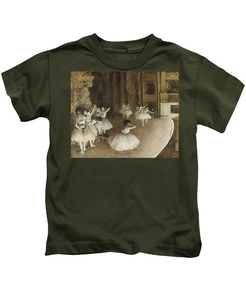 Ballet Rehearsal On Stage Kids T-Shirt
