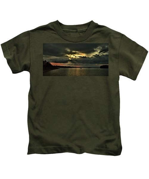 Sunrise Onset Pier Kids T-Shirt