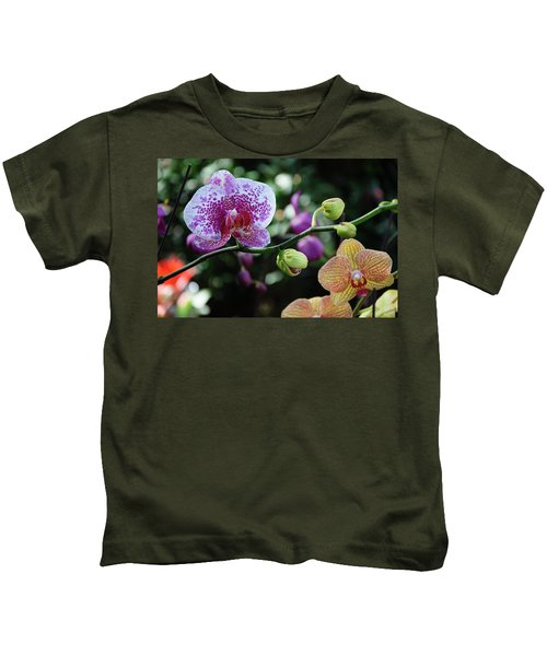 Butterfly Orchid Flowers Kids T-Shirt