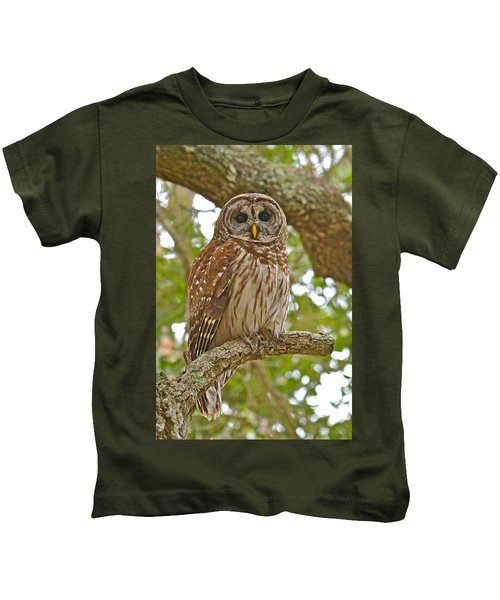 A Barred Owl Kids T-Shirt