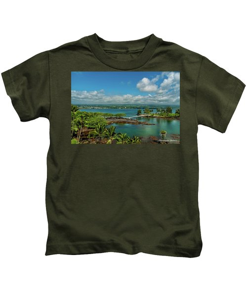A Beautiful Day Over Hilo Bay Kids T-Shirt