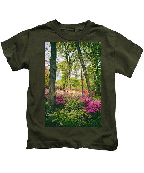 A Colorful Hillside Kids T-Shirt